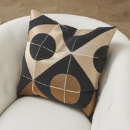Global Views Circle Marquetry Pillow