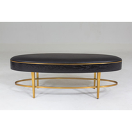 Global Views Ellipse Bench - Ebony