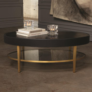 Global Views Ellipse Cocktail Table - Ebony