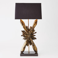 Global Views Facet Starburst Lamp - Bronze w/Black Shade