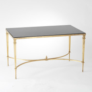 Global Views French Square Leg Cocktail Table - Brass
