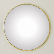 Global Views Hoop Flat Mirror - Brass - Lg