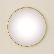 Global Views Hoop Flat Mirror - Brass - Med