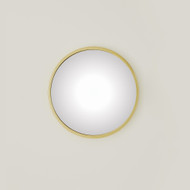 Global Views Hoop Flat Mirror - Brass - Sm