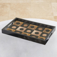 Global Views Horn/Gold Tray
