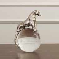 Global Views Jaguar on Crystal Sphere - Nickel
