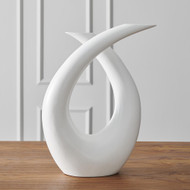 Global Views Loop Sculpture - Matte White