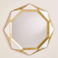 Global Views Madeleine Mirror - Gold Leaf