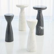 Global Views Marble Tower Table - Black - Lg