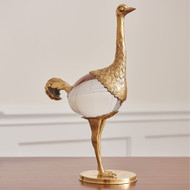 Global Views Ostrich - Brass