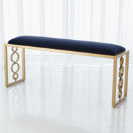 Global Views Progressive Ring Bench - Brass - Admiral Blue