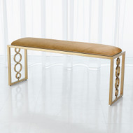 Global Views Progressive Ring Bench - Brass - Brown Sugar