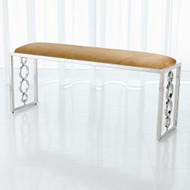 Global Views Progressive Ring Bench - Nickel - Brown Sugar