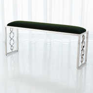 Global Views Progressive Ring Bench - Nickel - Emerald Green