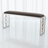 Global Views Progressive Ring Bench - Nickel - Pewter