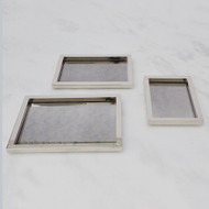 Global Views S/3 Stepped Nesting Trays - Nickel