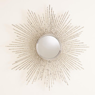 Global Views Square Beaded Burst Mirror - Brass - Sm