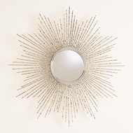 Global Views Square Beaded Burst Mirror - Nickel - Sm