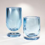 Global Views Thick Cylinder Vase - Powder Blue/Light Blue - Sm