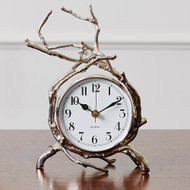 Global Views Twig Clock - Nickel