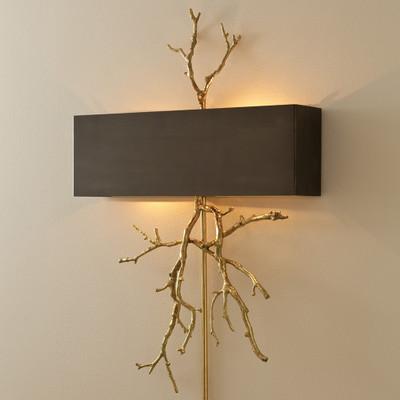 Global Views Twig Wall Sconce - Brass/Bronze