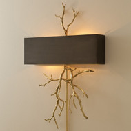 Global Views Twig Wall Sconce - Brass/Bronze - HW