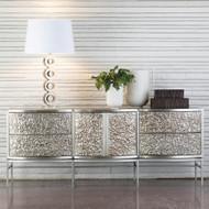 Studio A Crinkle Long Cabinet - Nickel/Antique Nickel