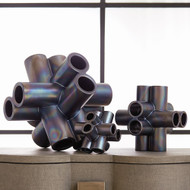 Studio A Cube Tube Sculpture - Black Luster - Sm