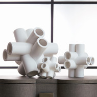 Studio A Cube Tube Sculpture - Matte White - Sm