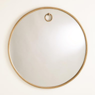 Studio A Exposed Mirror - Antique Brass - Sm