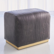 Studio A Forest Ottoman - Charcoal Leather