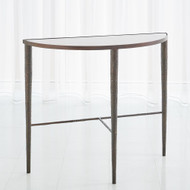 Studio A Hammered Console - Bronze w/White Marble