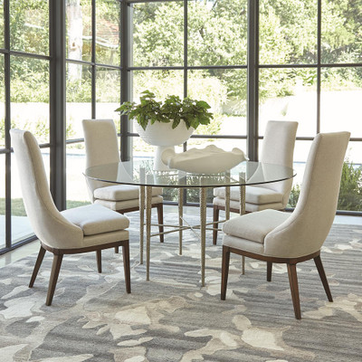 Studio A Hammered Dining Table Base - Nickel Plated