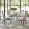 Studio A Hammered Dining Table w/48 Glass Top - Nickel Plated