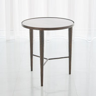Studio A Hammered End Table - Bronze w/White Marble