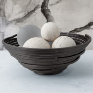 Studio A Iron Stock Swirl Bowl - Natural Iron