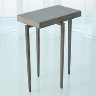 Studio A Laforge Accent Table - Natural Iron w/Flamed Granite Top