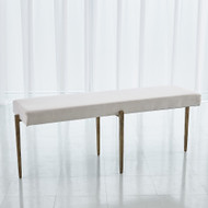 Studio A Laforge Bench - Antique Gold w/Muslin Cushion - Lg