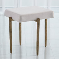 Studio A Laforge Bench - Antique Gold w/Muslin Cushion - Sm