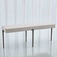 Studio A Laforge Bench - Natural Iron w/Muslin Cushion - Lg
