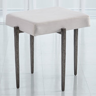 Studio A Laforge Bench - Natural Iron w/Muslin Cushion - Sm