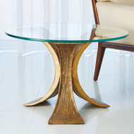 Studio A Lotus End Table - Antique Gold