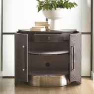Studio A Milan Demi Lune - Charcoal Leather