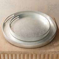 Studio A Nouveau Luxe Tray - Silver Leaf - Sm