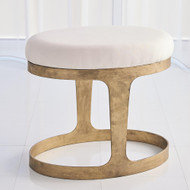 Studio A Oslo Stool - Gold w/Muslin Cushion
