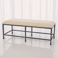 Studio A Quad Pod Bench w/Muslin Cushion - Natural Iron