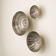 Studio A S/3 Sun Etched Wall Bowls - Antique Nickel