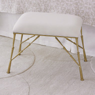 Studio A Spike Bench w/Muslin Cushion - Antique Brass