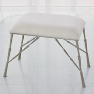 Studio A Spike Bench w/Muslin Cushion - Antique Nickel