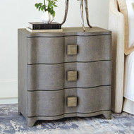 Studio A Toile Linen Bedside Chest - Grey